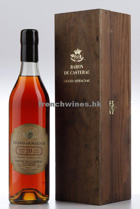 BARON DE CASTERAC GRAND ARMAGNAC 20 YEARS NV