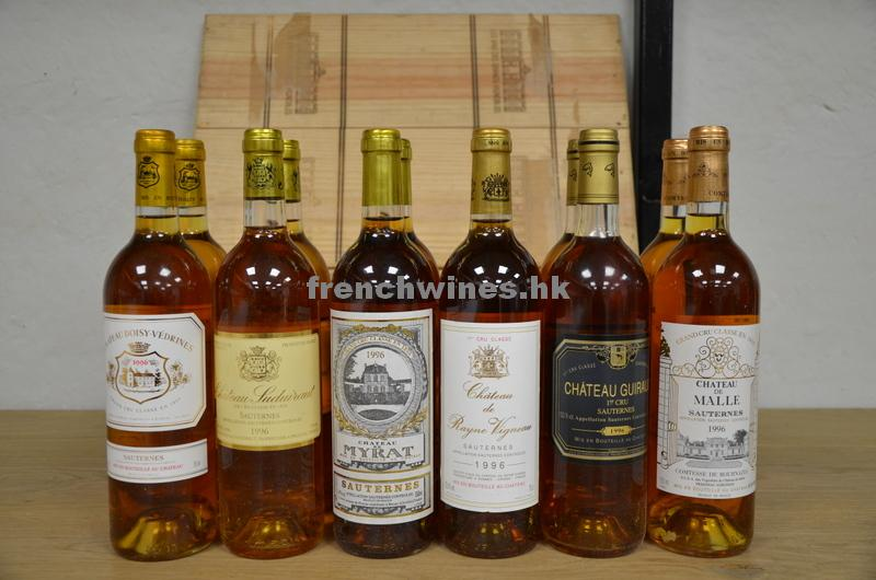 ASSORTMENT OF SAUTERNES 1996