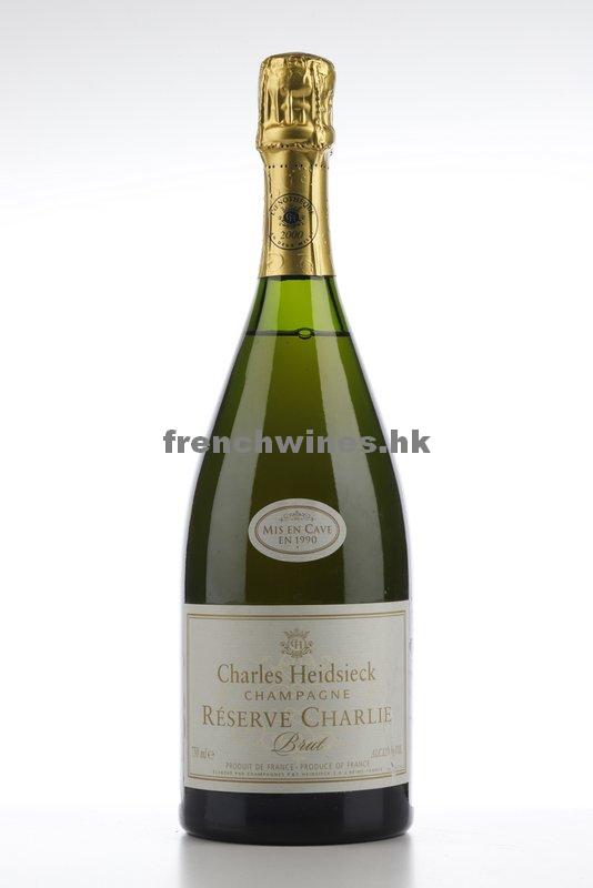CHARLES HEIDSIECK BRUT CHARLIE L'OENOTHEQUE AN 2000 1990