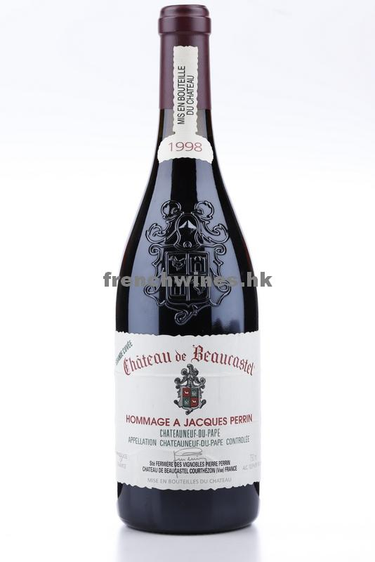 CHATEAUNEUF DU PAPE BEAUCASTEL HOMMAGE A JACQUES PERRIN 1998